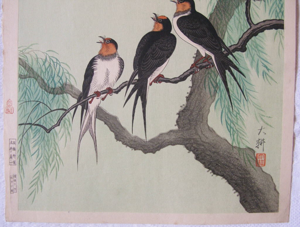Swallows and Willow Tree - SAKURA FINE ART