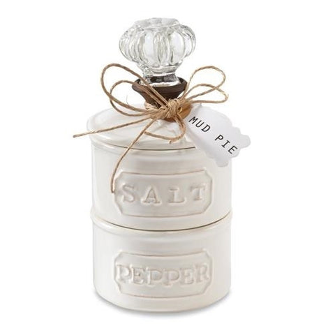 Mud Pie Door Knob Salt Cellar Set
