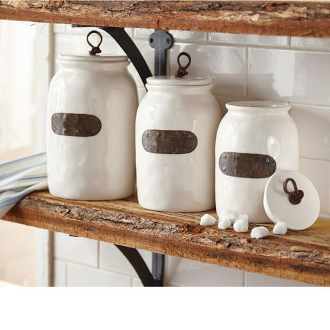 Mud Pie Bistro Canister Set