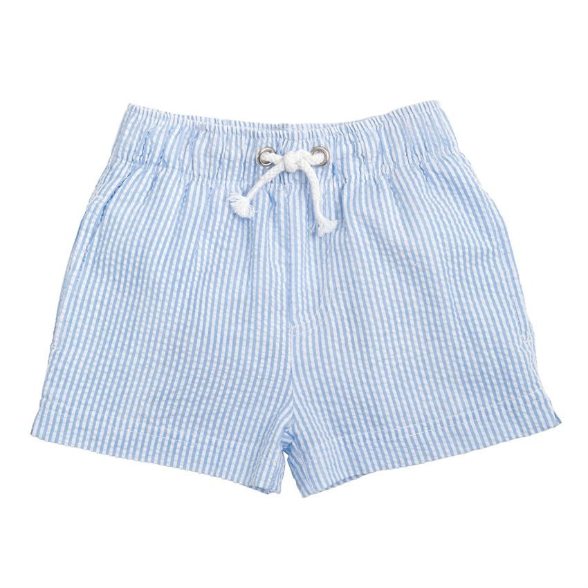 Mud Pie Seersucker Swim Trunks