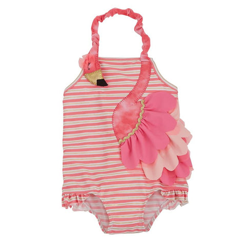 Mud Pie Flamingo Ruffle Swimsuit (6-9 Months)