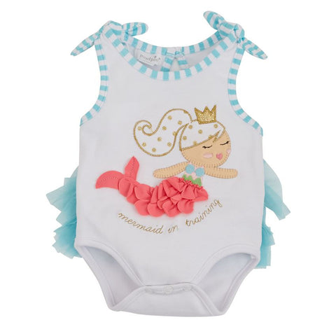 Mud Pie MERMAID TUTU CRAWLER 3-6 MONTHS