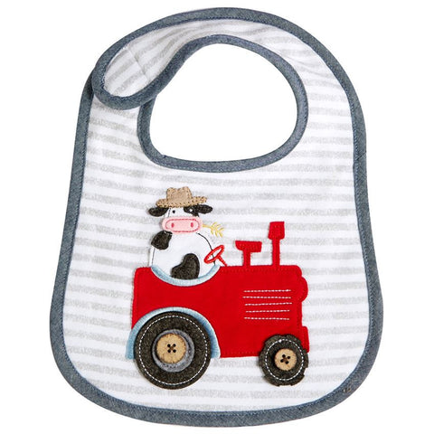 Mud Pie Cow Tractor Bib