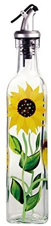 Grant Howard Hand Painted Oil & Vinegar Bottle, Sunflower