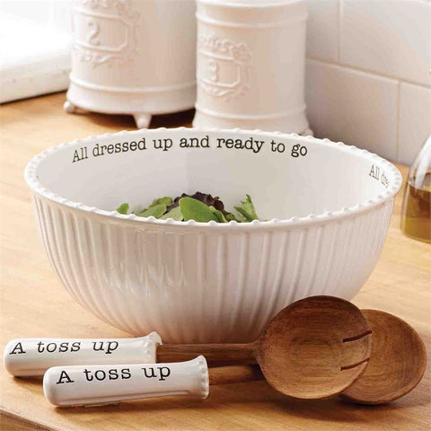 Mud Pie Circa Salad Bowl Set
