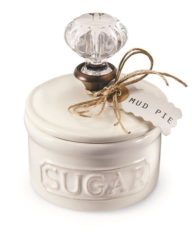 Mud Pie Door Knob Sugar Bowl