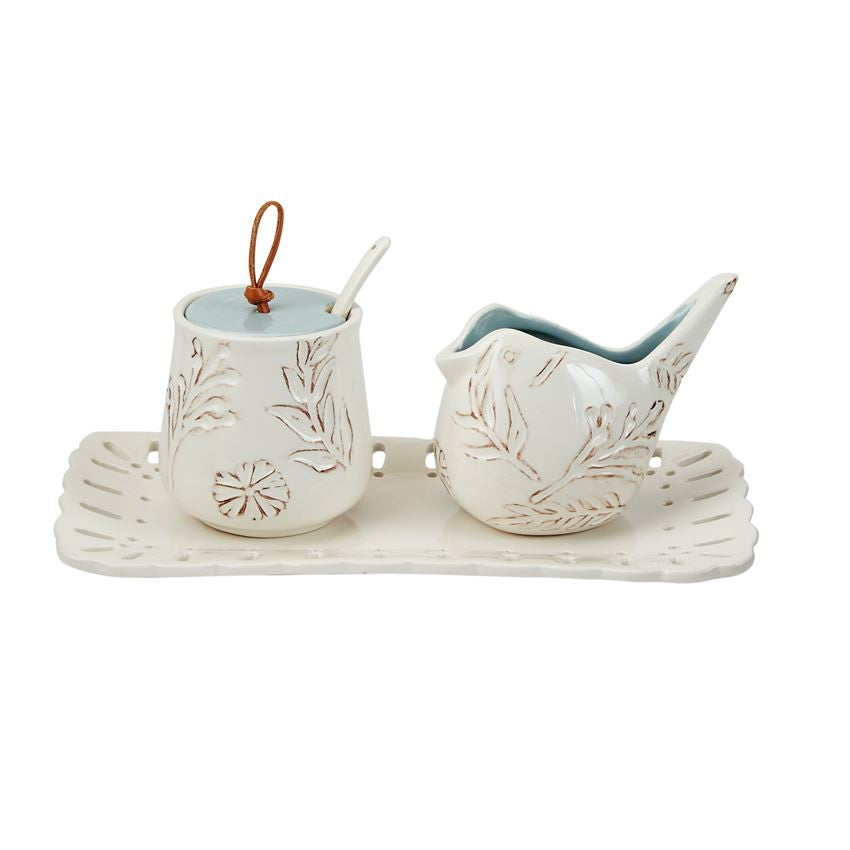 Mud Pie Nest Cream & Sugar Set