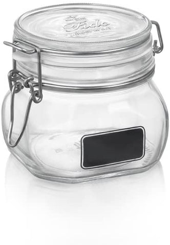 Bormioli Rocco Fido Square Jar with Chalkboard