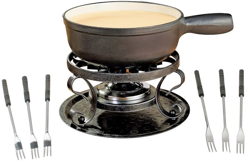 SwissMar Lugano 9 Piece Cast Iron Fondue Set