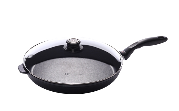 "Swiss Diamond 12.5"" Nonstick Fry Pan with Lid"