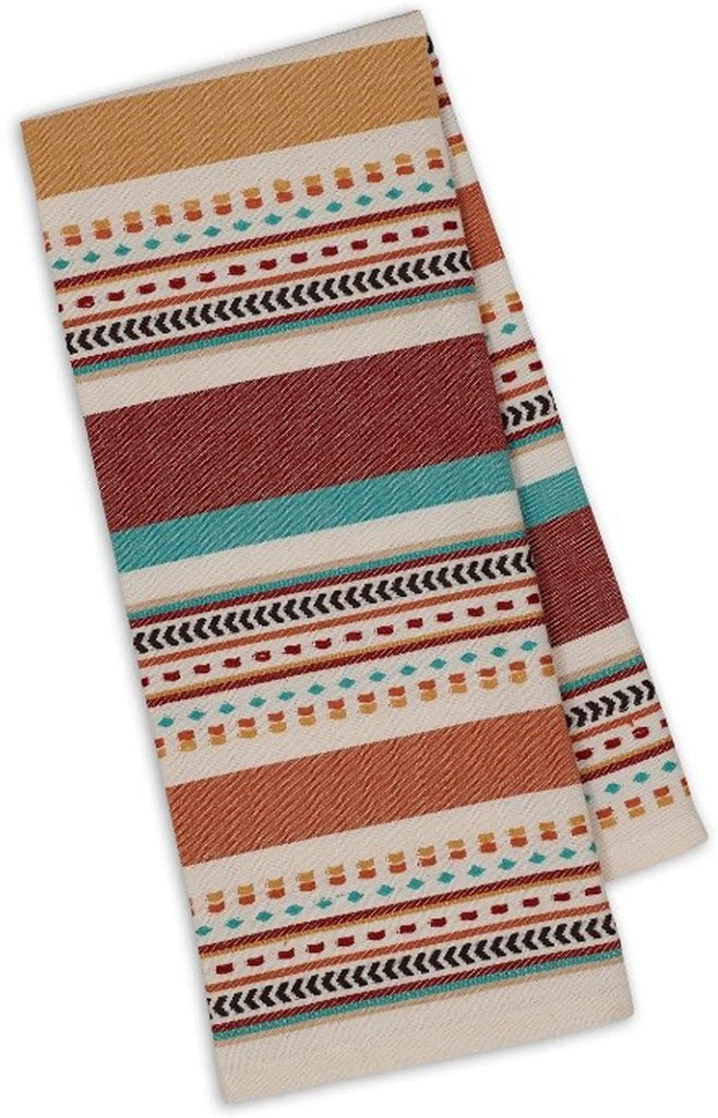 Design Imports Southwest Table Linens Dishtowel, Santa Fe Dobby Stripe