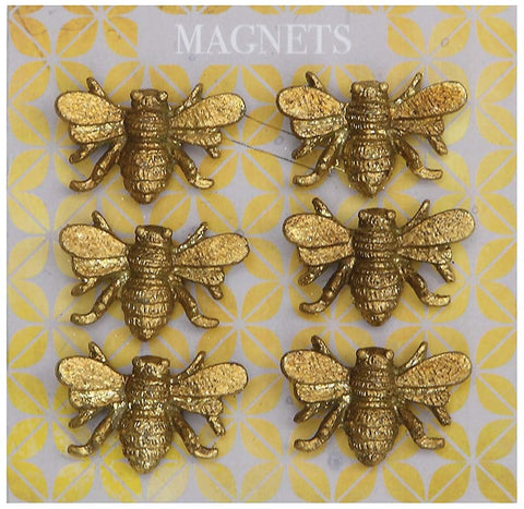 Creative Co-Op Pewter Bee Magnets
