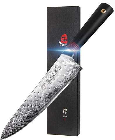 "Tuo 8"" Hammered Chef's Knife"