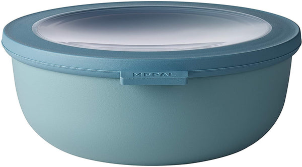 Rosti Mepal Cirqula Food Storage and Serving Bowl with Lid, Low 1.3qt