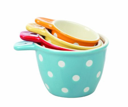 Creative Co-Op Ceramic Measuring Cup Set