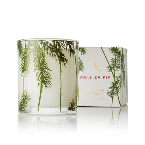 Thymes Frasier Fir Pine Needle Decorative Glass Jar Candle