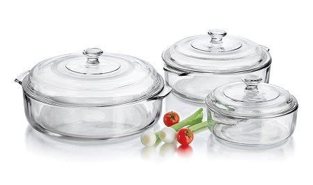Libbey Round Covered Glass Casserole Set