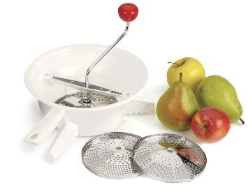 RSVP Endurance Classic Rotary Style Food Mill with 3 Stainless Steel Blades