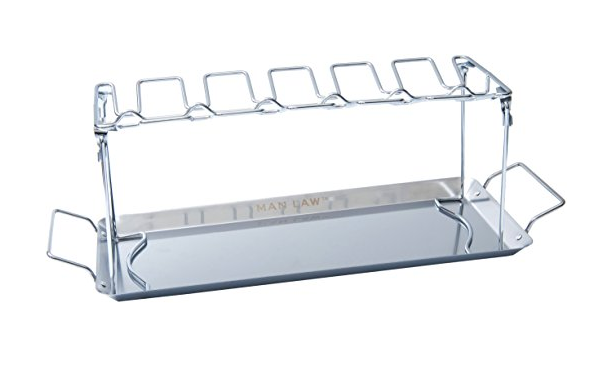 MAN LAW BBQ Barbecue Wing Rack