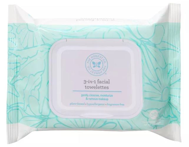 The Honest Company Face Wipes: 3-in-1 Facial Towelettes (Pack of 4)