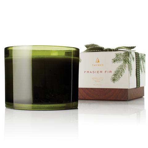 Thymes Frasier Fir 3-Wick Seasonal Ceramic Wax Candle