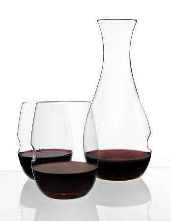govino¨ Dishwasher Safe Series: Decanter Set with Two 16-ounce Dishwasher Safe Glasses