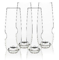 govino¨ Classic Series: Flexible Shatterproof Recyclable Champagne Flute Set