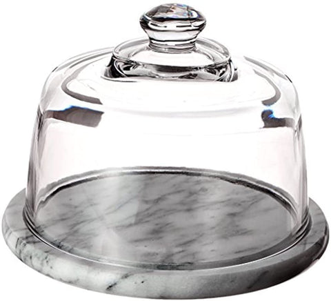 Norpro Glass Cheese Dome with Marble Base