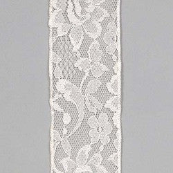 "Lace ribbon 21/2"" x 10yrd. Ivory $16.99"