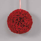 Rose Ball with Ribbon Hanger