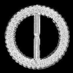 "Circle buckle. Bling look. Plastic. 2 1/2"" Silver Sold in pack of 6 $23.95 ($3.99ea)"