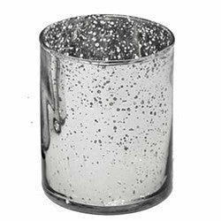 "Aged Glass Votive 2 1/2"" silver- Sold in case  of 6 $20.99 ($3.50ea)"