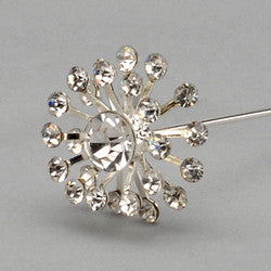 Diamond starburst pin. Sold in package of 12 -$ 29.99