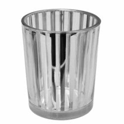 "Striped Glass Party Votive-silver 2 1/2"" Sold in case of 4 $13.99 ($3.50ea)"