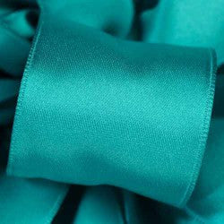 "Supreme ribbon wired 1 1/2"" x 15 yrd.  Turquoise $14.99"