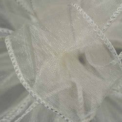 "Supreme sheer ribbon wired 1 1/2"" x 15 yrd.  Ivory  $14.99"