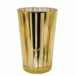 "Striped Glass Party Votive-gold 4"" Sold in case of 4 $17.99 ($4.50ea)"