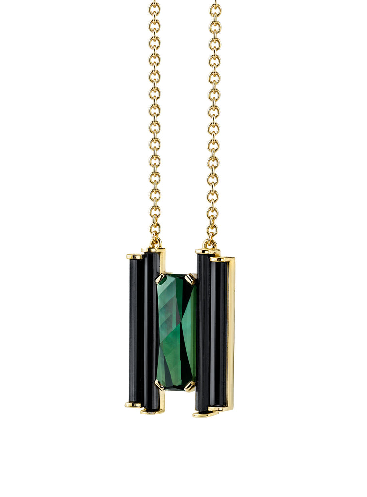 """ART DECO"" TOURMALINE PENDANT"