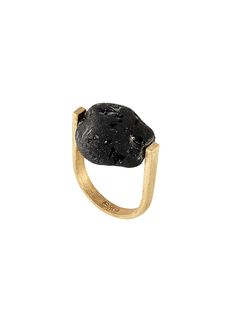 RIVER TUMBLED BLACK TOURMALINE RING