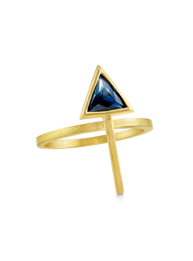 OMBRE SAPPHIRE ARROW RING