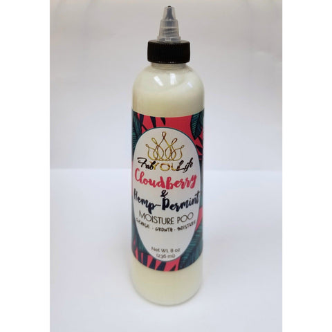 Cloudberry & Hemp-Permint Moisture Poo - FabYouLife Luxury HairCare and SkinCare
