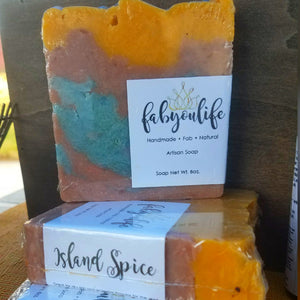 Island Spice Soap - FabYouLife Luxury HairCare and SkinCare