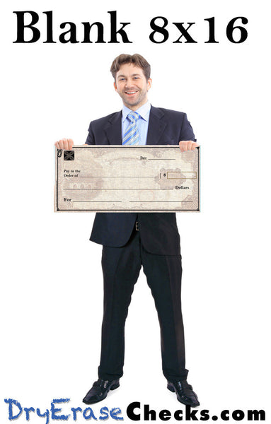 Blank Giant Check 8x16 Little Size Big Check