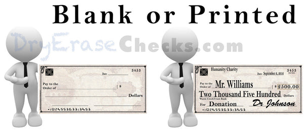 Giant Check 40x180 HUGE BANNER Size Giant Oversized Check - Include your Photo for Free!
