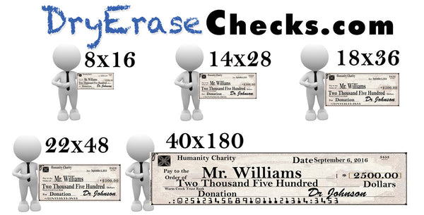 Giant Check 14x28 Small Size Big Check - Include your Photo for Free! We will beat ANYONES PRICES!