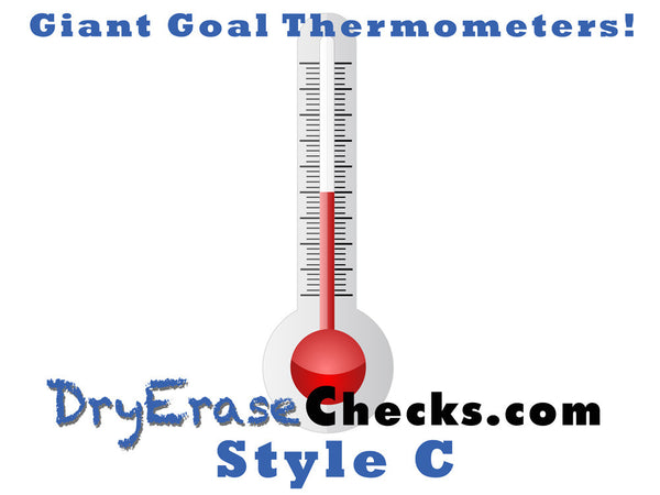 Giant Poster Thermometer Goals - Great for School and Charity Programs!