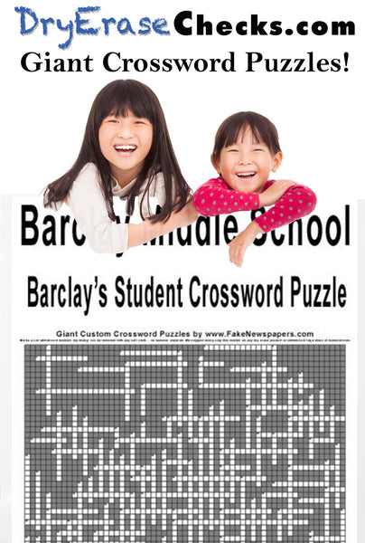 Custom Giant Crossword Puzzles Personalized Just for You!