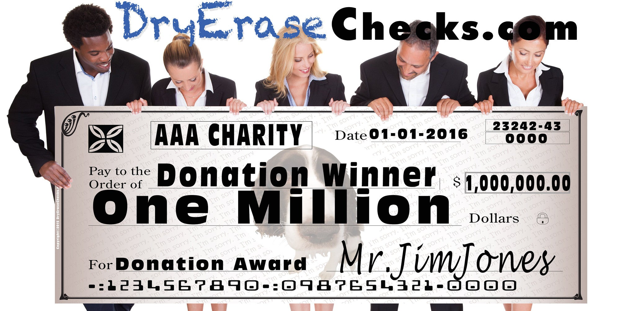 Charity Giant Check