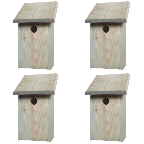 4 x Wild Garden Bird Nest Boxes