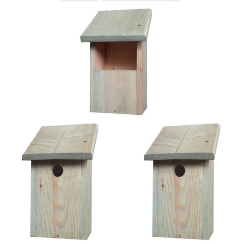 3 x Wild Garden Bird Nest Boxes